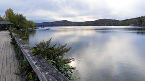Meer Massawippi in de Herfst, het Noorden Hatley, Quebec Royalty-vrije Stock Fotografie