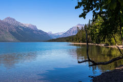 Meer McDonald in het Nationale Park van de Gletsjer Stock Afbeelding