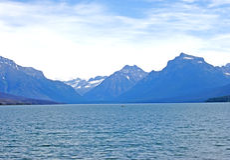 Meer Mcdonald, het Park van de Gletsjer, Montana Stock Afbeelding
