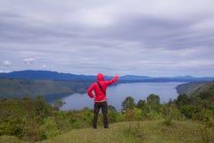 Meer medan toba, Indonesië Stock Foto's