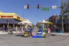 Meer met een waarde van, Florida, de V.S. die Fab 23-24, de 25Th Jaarlijkse Straat van 2019 Fest schilderen stock afbeelding