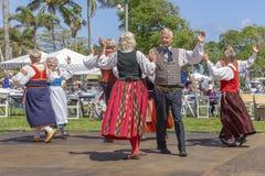 Meer met een waarde van, Florida, de V.S. die 3 Maart, het Festival van de de Middernachtzon van 2019 Finse Cultuur vieren stock foto's