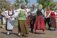 Meer met een waarde van, Florida, de V.S. die 3 Maart, het Festival van de de Middernachtzon van 2019 Finse Cultuur vieren royalty-vrije stock foto