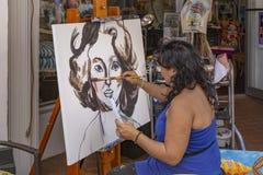 Meer met een waarde van, Florida, de V.S. Fab 23-24, de Straat van 2019 25Th Jaarlijks het Schilderen Festival stock afbeelding