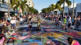 Meer met een waarde van straat het schilderen Festival Stock Foto's