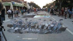 Meer met een waarde van straat het schilderen Festival stock foto
