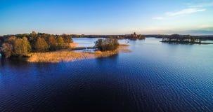 Meer met eilanden, lucht Stock Fotografie