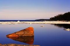 Meer met ijsschol Royalty-vrije Stock Foto's