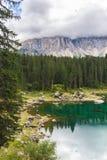 Meer Misurina in de Alpen Stock Fotografie
