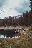 Meer Misurina in de Alpen Stock Foto