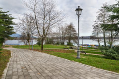 Meer Monate van openbaar park van Cadrezzate, Varese, Italië Stock Afbeeldingen