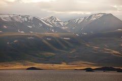 Meer in Mongolië stock afbeeldingen