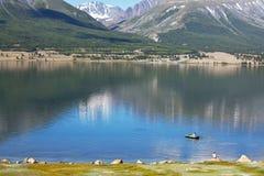 Meer in Mongolië royalty-vrije stock afbeeldingen