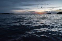 Meer Muskoka tijdens Zonsondergang Stock Afbeelding