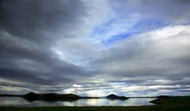 Meer Myvatn IJsland Stock Fotografie