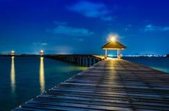 Meer nachts in Thailand Stockbilder
