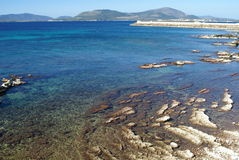Meer nahe Alghero stockfotos