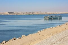 Meer Nasser en de Tempel van beit-Gr-Wali royalty-vrije stock foto