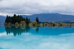Meer in Nieuw Zeeland Stock Afbeelding