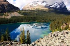 Meer O'Hara, Yoho National Park, Canada royalty-vrije stock foto's