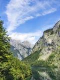 Meer Obersee met Watzmann Stock Afbeelding