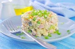 Meer olivier salade Royalty-vrije Stock Fotografie