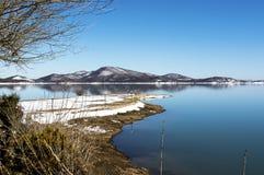 Meer op de winter, Griekenland Stock Fotografie