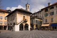 Meer Orta, Orta San Giulio Royalty-vrije Stock Foto's