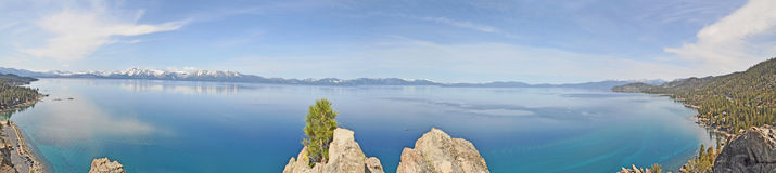Meer Panoramische Tahoe Stock Afbeelding
