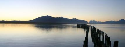 Meer in Patagonië Stock Foto's