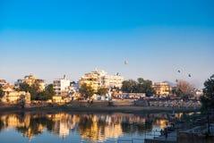 Meer Pichola in Udaipur Stock Afbeelding