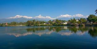 Meer in Pokhara Royalty-vrije Stock Afbeelding
