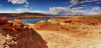 Meer Powell Panorama, Utah - Arizona Stock Foto's