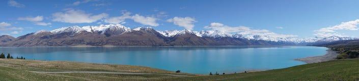 Meer Pukaki, Berg Cook, Nieuw Zeeland stock afbeeldingen