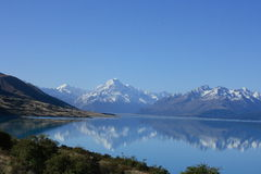Meer Pukaki, Nieuw Zeeland Royalty-vrije Stock Foto