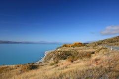 Meer Pukaki, Nieuw Zeeland Royalty-vrije Stock Afbeeldingen
