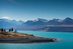 Meer Pukaki, Nieuw Zeeland Royalty-vrije Stock Foto's