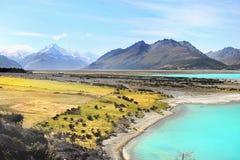 Meer Pukaki, Nieuw Zeeland Stock Afbeelding