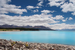 Meer Puraki, Zuideneiland, Nieuw Zeeland Royalty-vrije Stock Fotografie