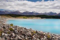 Meer Puraki, Zuideneiland, Nieuw Zeeland Royalty-vrije Stock Foto's