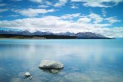 Meer Puraki, Zuideneiland, Nieuw Zeeland Stock Foto's