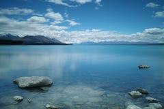 Meer Puraki, Zuideneiland, Nieuw Zeeland Royalty-vrije Stock Foto