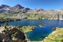 Meer Respomuso in Tena Valley in de Pyreneeën, Huesca, Spanje stock afbeeldingen