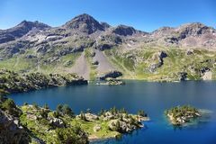 Meer Respomuso in Tena Valley in de Pyreneeën, Huesca, Spanje stock fotografie