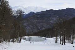 Meer in Rosa Khutor Alpine Resort Stock Foto's