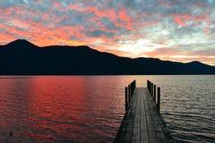 Meer Rotoroa, Nelson Lakes National Park, Tasman, Nieuw Zeeland Royalty-vrije Stock Afbeeldingen
