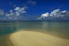 Meer, Sand und Himmel Stockbild