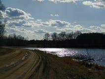 Meer Sandy Trail Royalty-vrije Stock Foto's