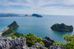 Meer sieht Prachuap-Bucht an Lizenzfreies Stockbild