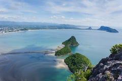 Meer sieht Prachuap-Bucht an Lizenzfreie Stockfotos
